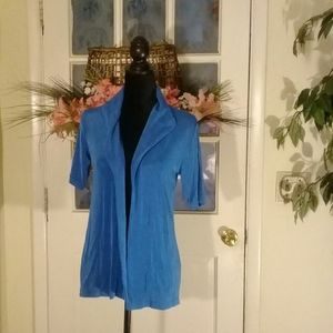 New Chico's size 0 blue travelers jacket.